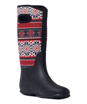 Black Karen Fair Isle Rain Boot | boots baby | Pinterest | Fair ...