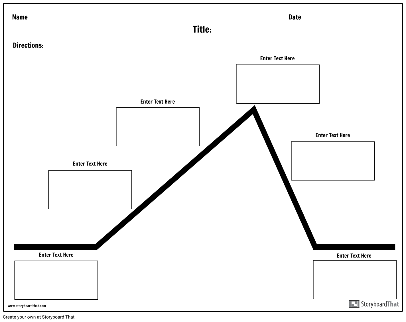 Use Storyboard That S Worksheet Maker To Create Plot