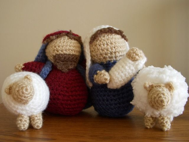 Amigurumi Nativity Español : The crafty cattery amigurumi nativity crocheted sheep pattern