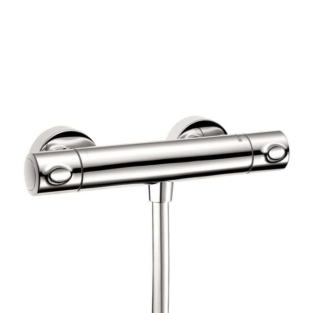 Hansgrohe Ecostat 2-Handle Shower Thermostat in Chrome (Grey ...