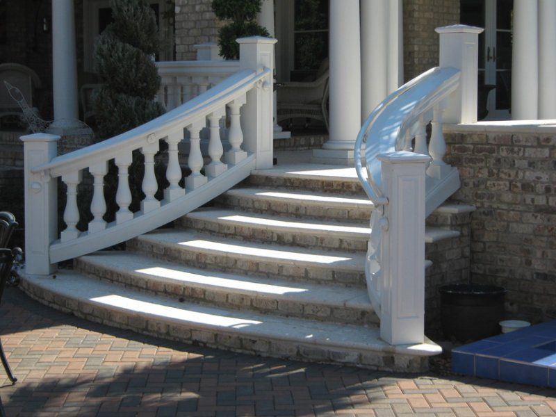 Curved Stair Balustrade Au330 In 2019 Porch Step Railing
