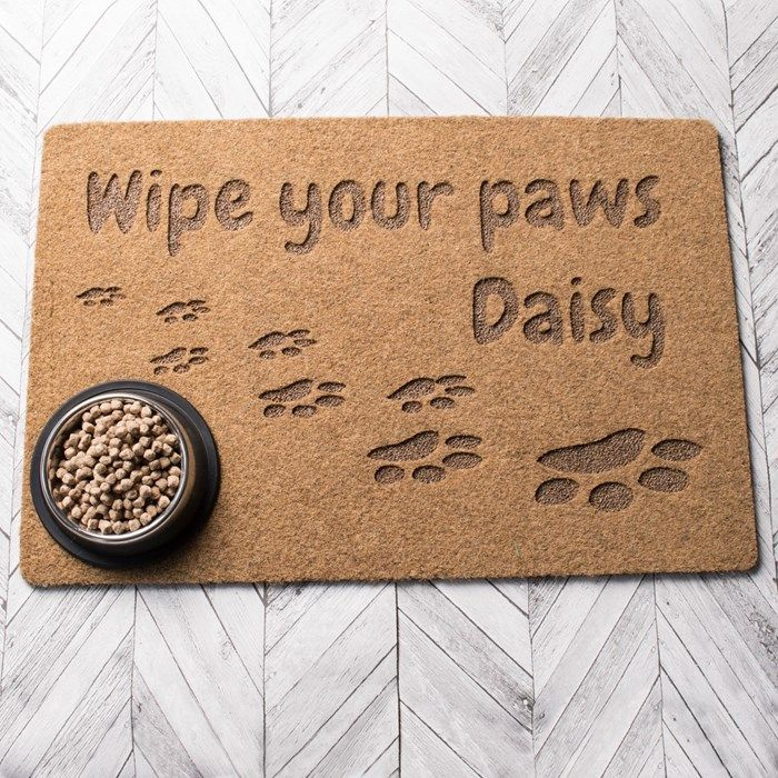 Personalised Outdoor Doormat Wipe Your Paws Homeware