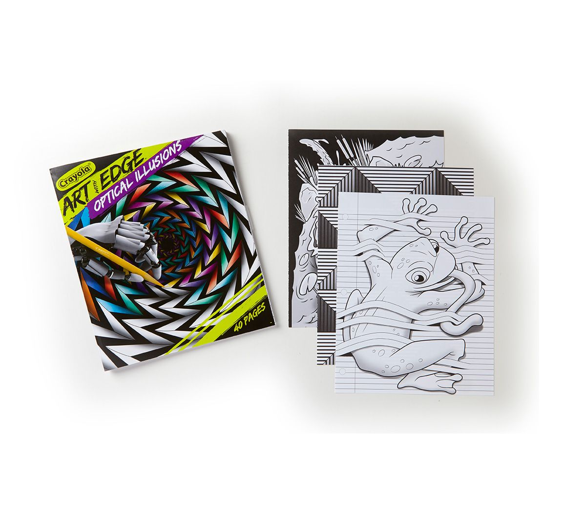 Art with Edge, Optical Illusions Crayola art, Coloring