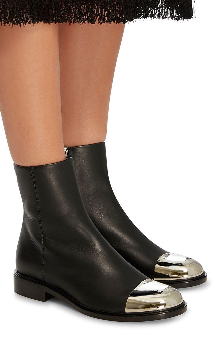 Proenza Schouler Black steel toe leather chelsea boots Acheter Pas Cher Livraison Rapide nP92amzK