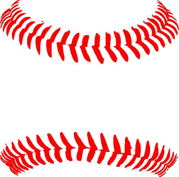 Red Baseball Seams Hi Png 600 215 595 Pixels Cricut Fun