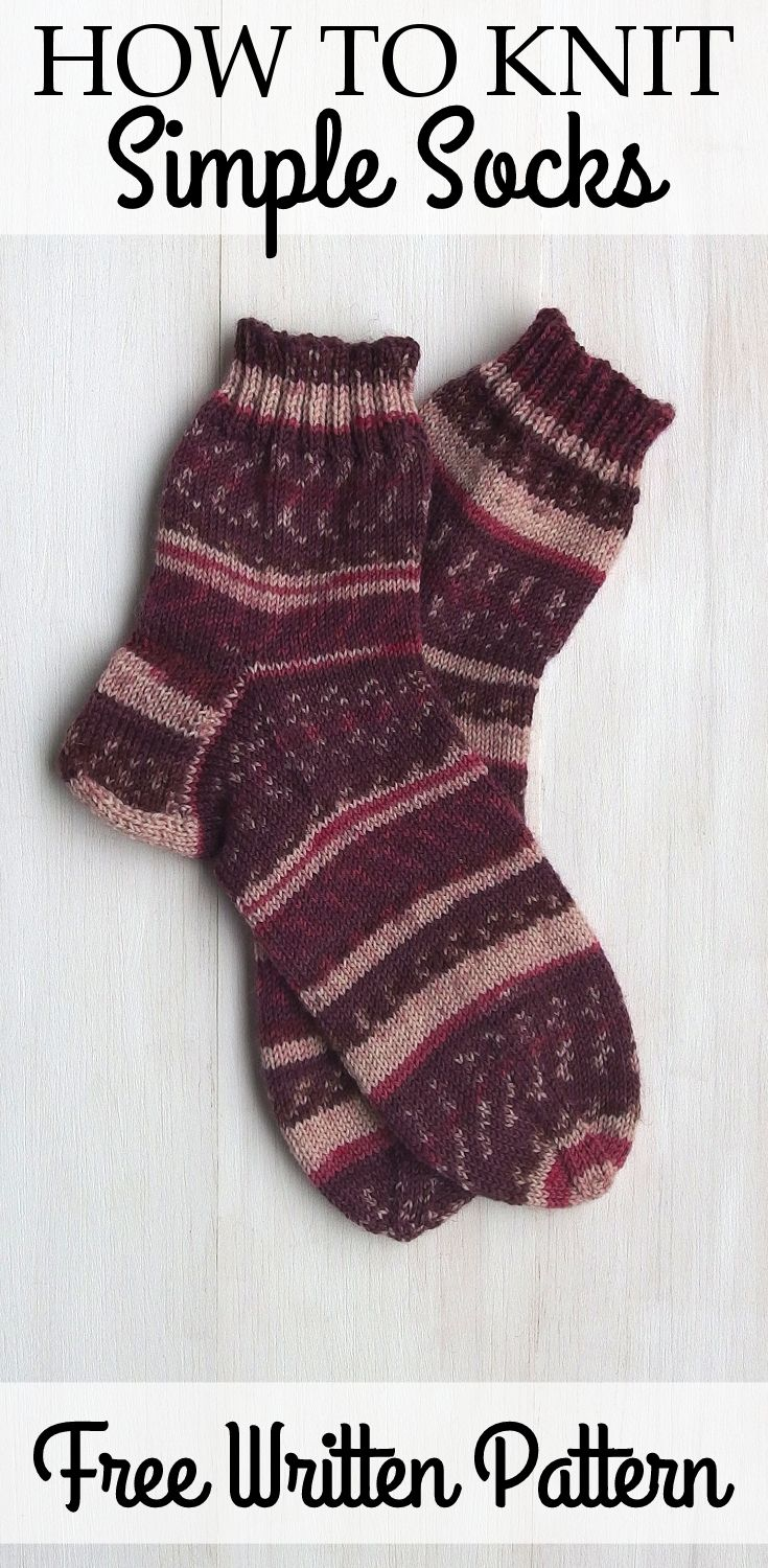 Free basic sock pattern for beginners and advanced knitters free basic sock pattern for beginners and advanced knitters fast simple video bankloansurffo Gallery