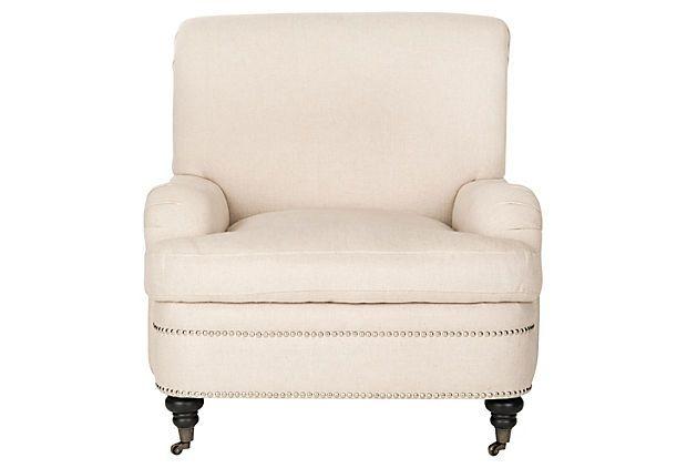 Sally Club Chair, Cream on OneKingsLane.com UPHOLSTERED VISCOSE & LINEN, $499 EA