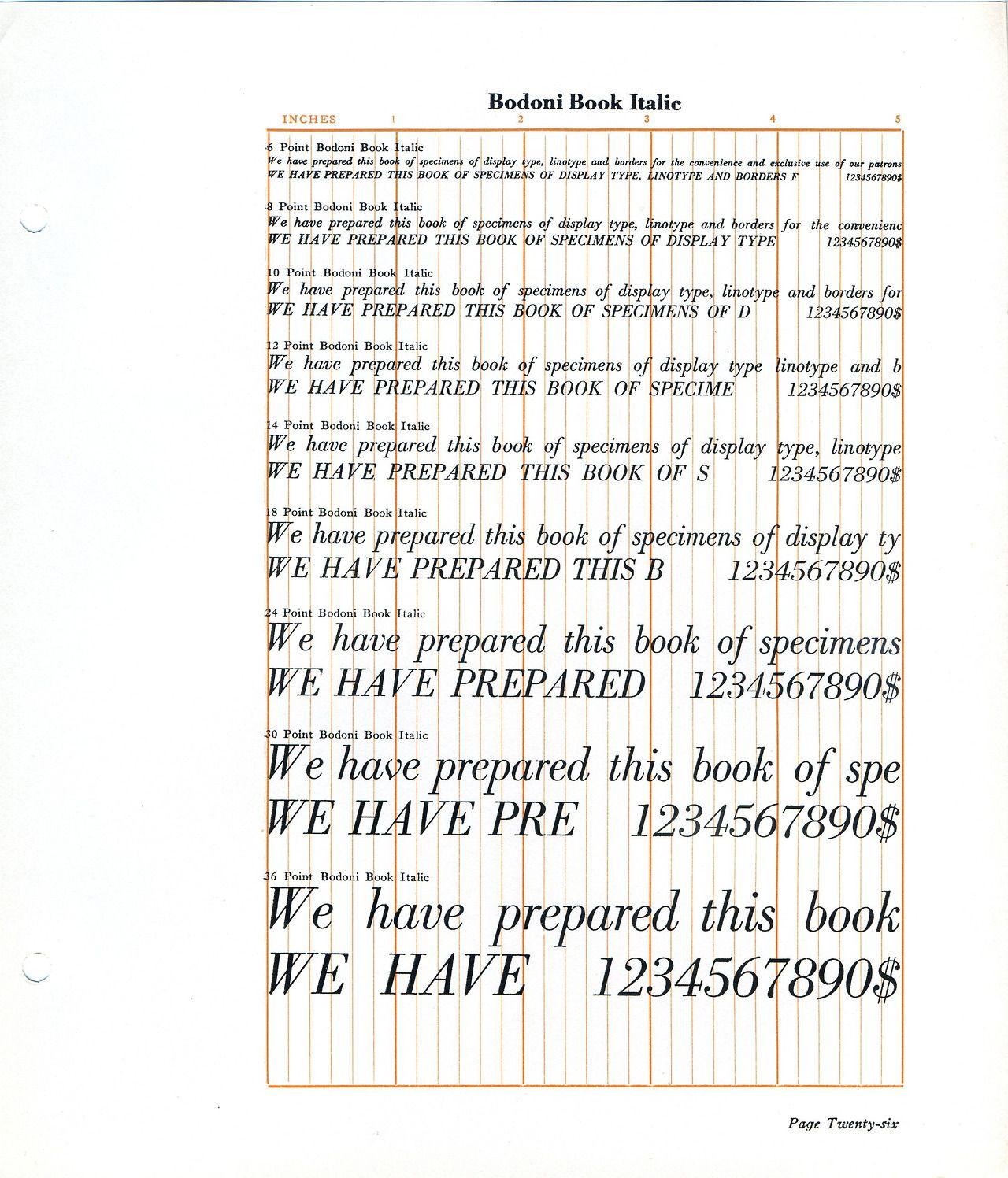 Bodoni Book Italic Font