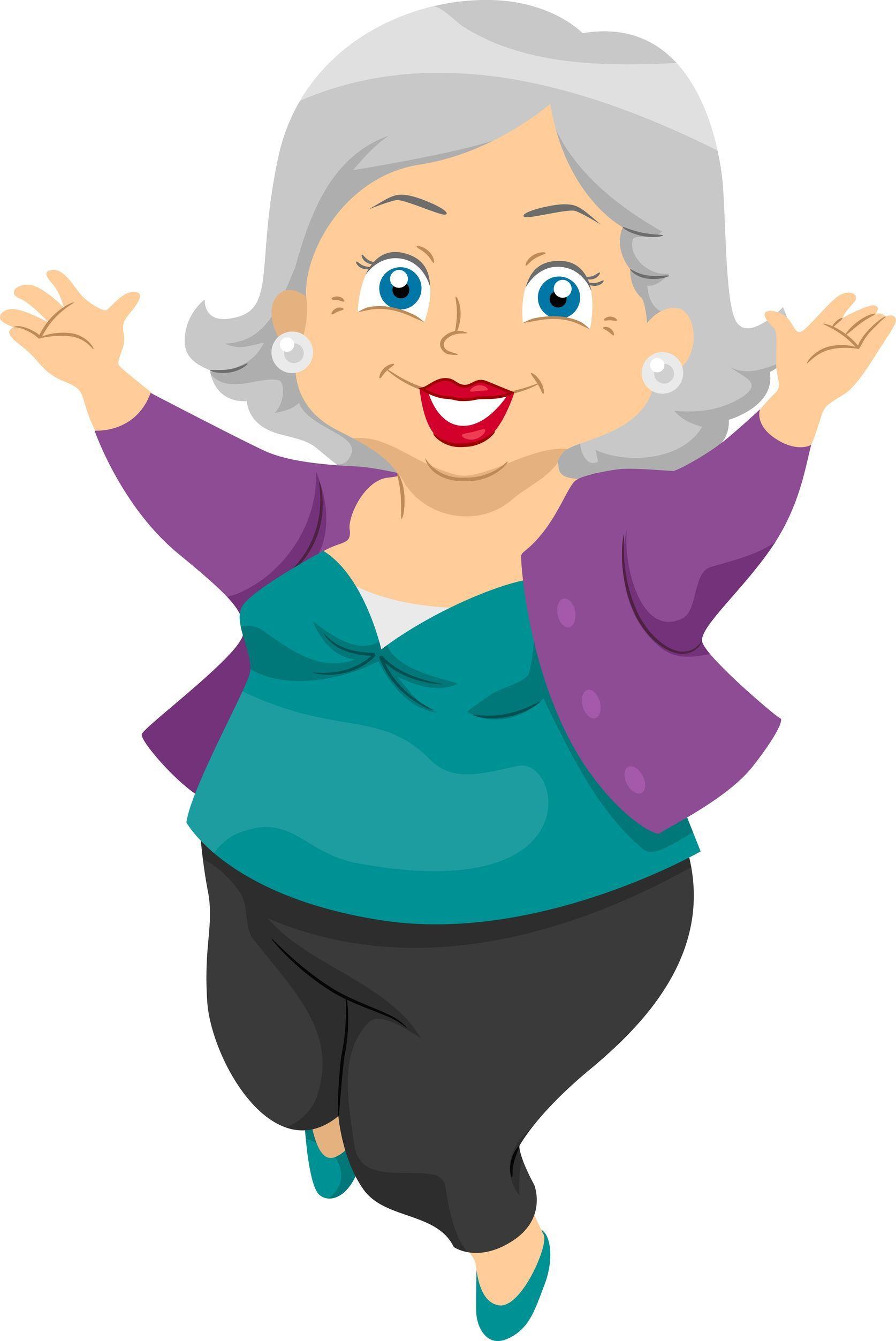 Pin Maria Helmy Sambel Sedap Oma Cartoon Grandma