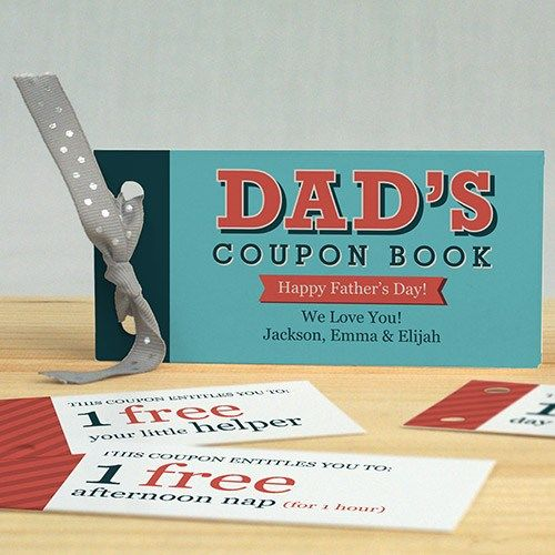Personalized Father\u0027s Day Coupon Book Pinterest Dads, Coupons