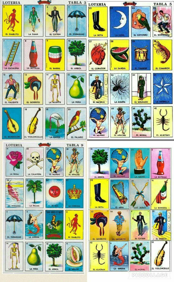 Loteria Mexicana Cartas Para Imprimir