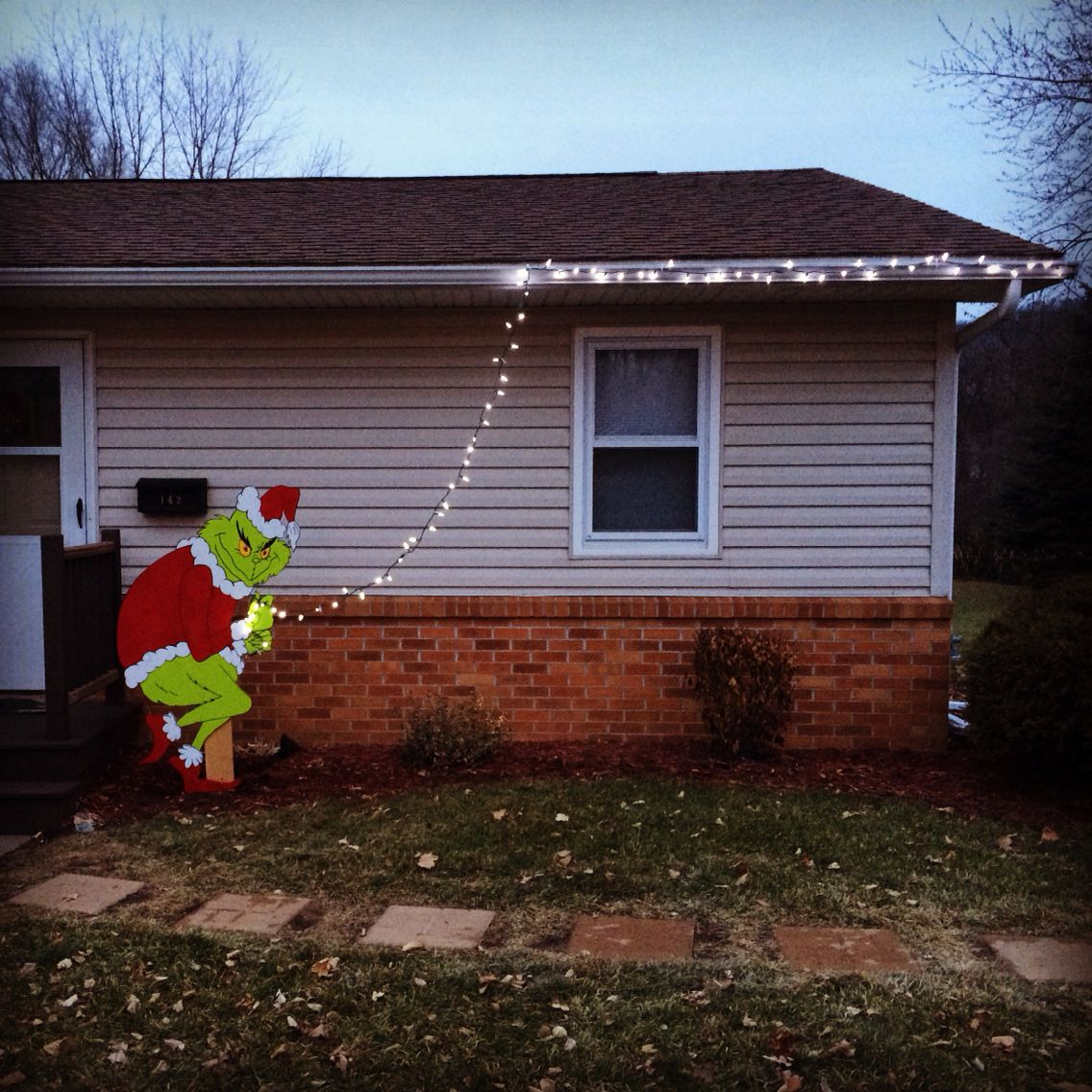 Grinch Steals The Lights Decorations Outdoor Christmas