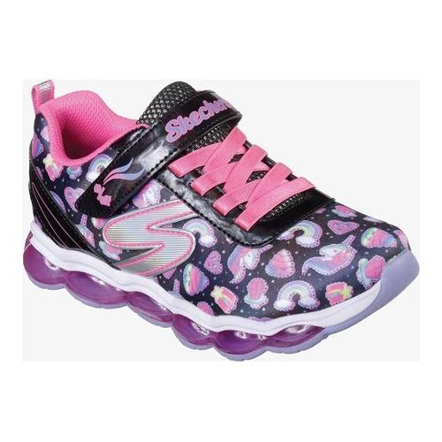 778849b4bebc Girls  Skechers S Lights Glimmer Lights Sparkle Dreams Sneaker - Black Multi  Sneakers