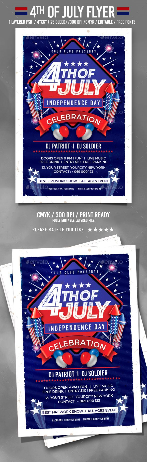 pin by best flyer designs on 4th of july flyer templates pinterest