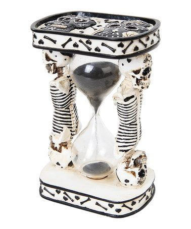 This Black & White Day of the Dead Sand Timer is perfect! #zulilyfinds