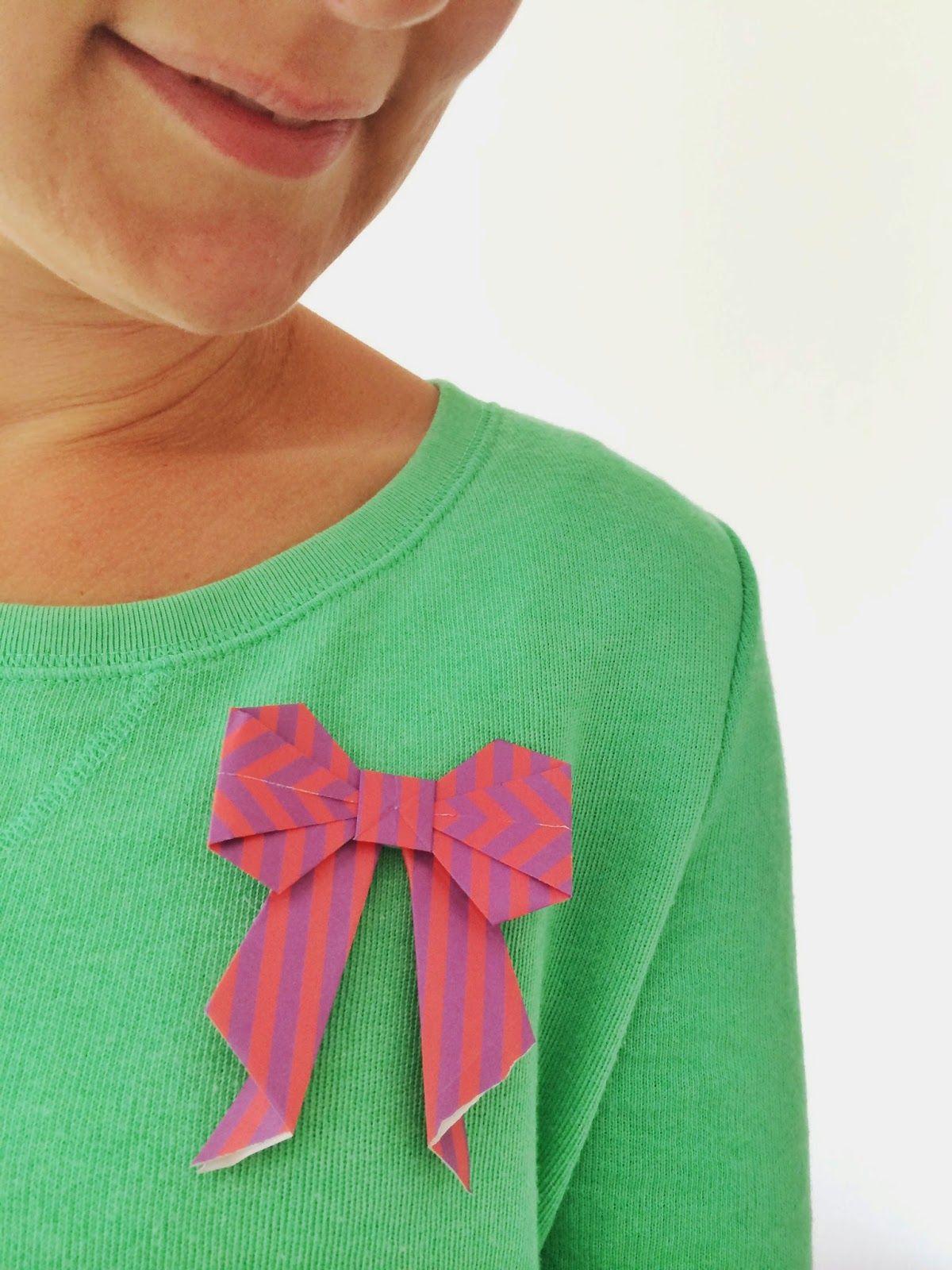 Origami bow for Moodkids.nl   pyssla med papper   Pyssel - photo#42