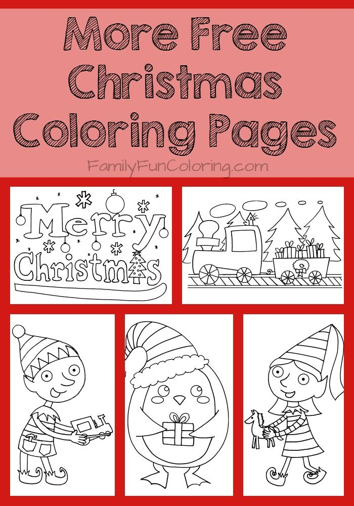 Printable Christmas Coloring Pages - FamilyFunColoring #printables ...