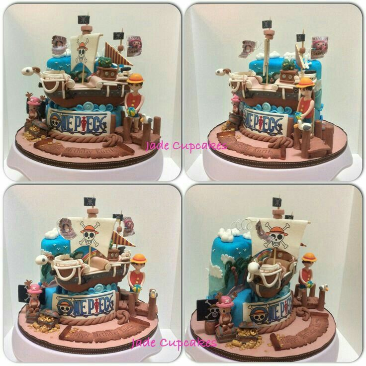 Going Merry Luffy One Piece Cake Chopper Anime Food Anime