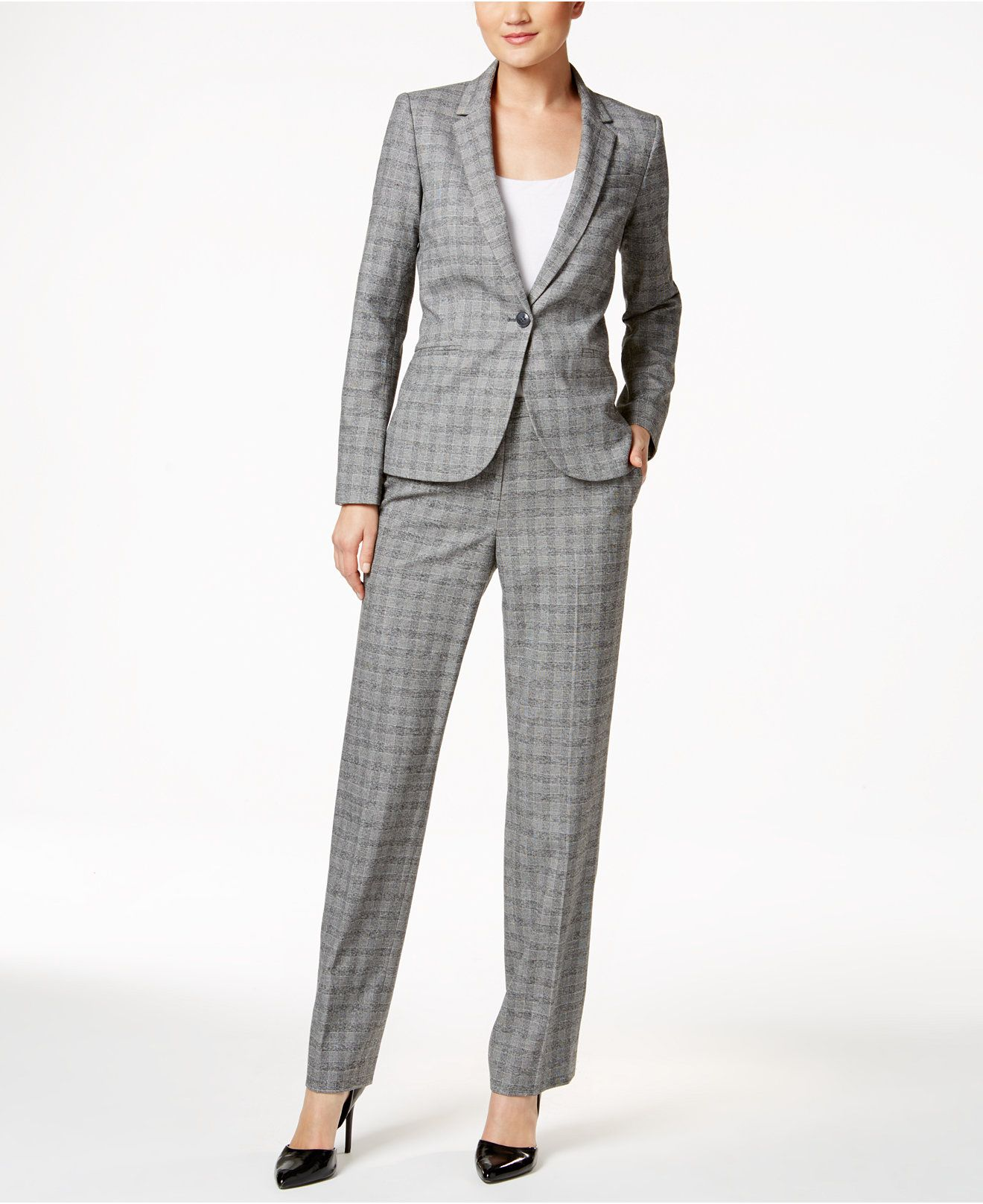 Tommy Hilfiger Houndstooth Blazer & Trousers - Suits & Suit ...