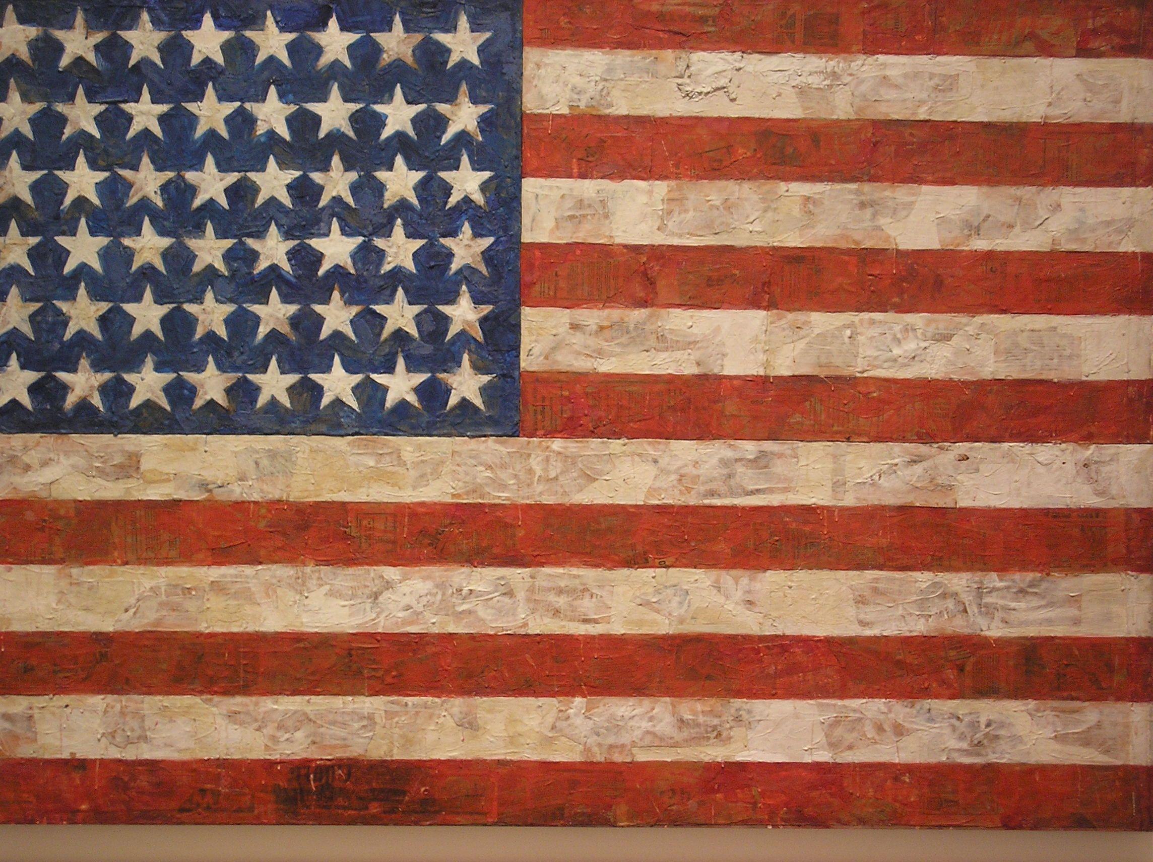 Moma Jasper Johns Encaustic Flag Jasper Johns Museum Of Modern Art American Flag Wall Art