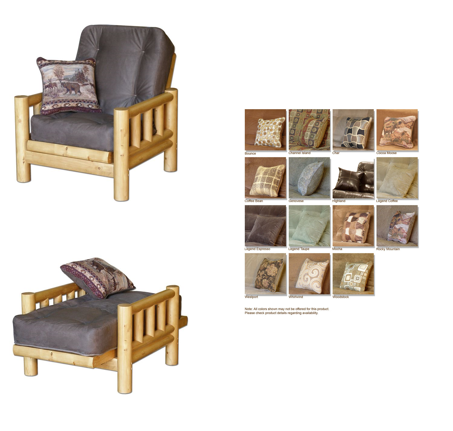 Futon And Chair Set Blue Parsons Tahoe Log With Cover At Www Dcgstores Com Sales 495 00