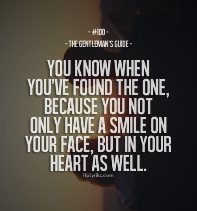 You know when you found the one... | Love | Love Quotes ...