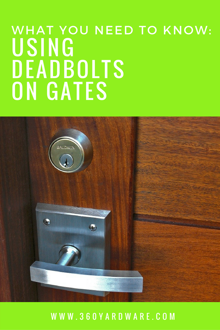 Using A Deadbolt To Lock Your Gate Can Be Done The Key Pun Intended Is Planning Th Garage Door Decorative Hardware Garage Door Opener Installation Deadbolt