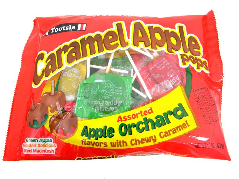 Caramel Apple Lollipops Assorted Flavors 24ct