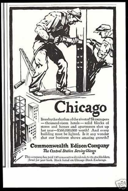 Chicago Steel Work Rivetor Commonwealth Edison (1927