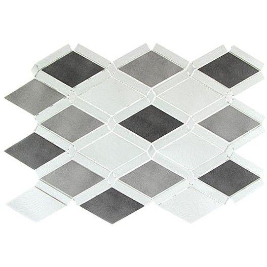 Platinum Moon Diamond Grey Brushed Aluminum Tile Tiles Falling Stars Clay Tiles