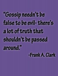 truths or false rumors...don't gossip either way.