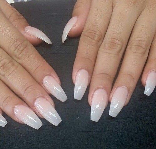If You Want Your Acrylic Look Like Natural Nails Just Put Simple Nude Color Or Clear Gels On Make Them Shorter French Tips Are Also Nice For