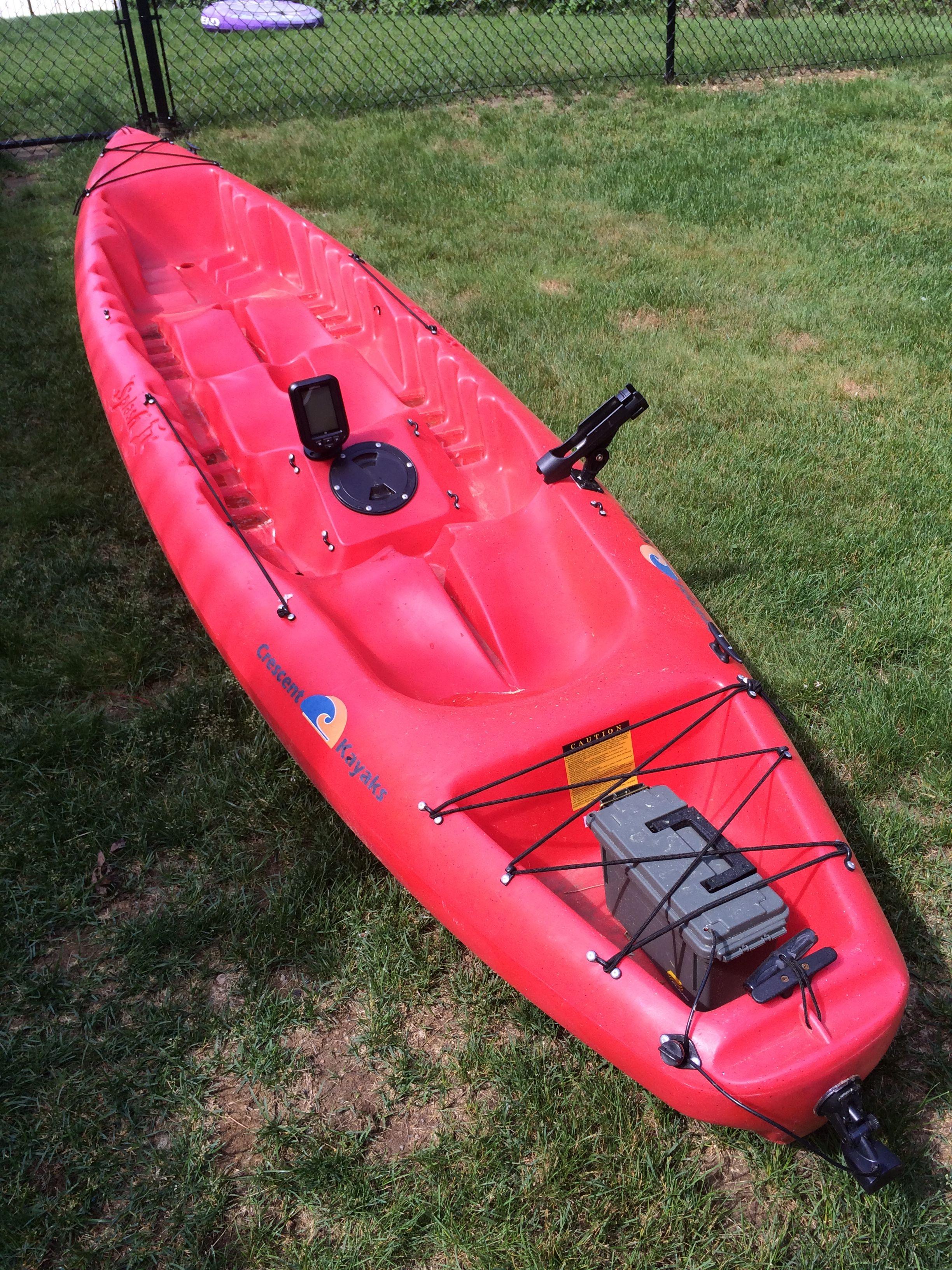 Crescent Kayak Splash II 3 person, with fish finder « Kayak