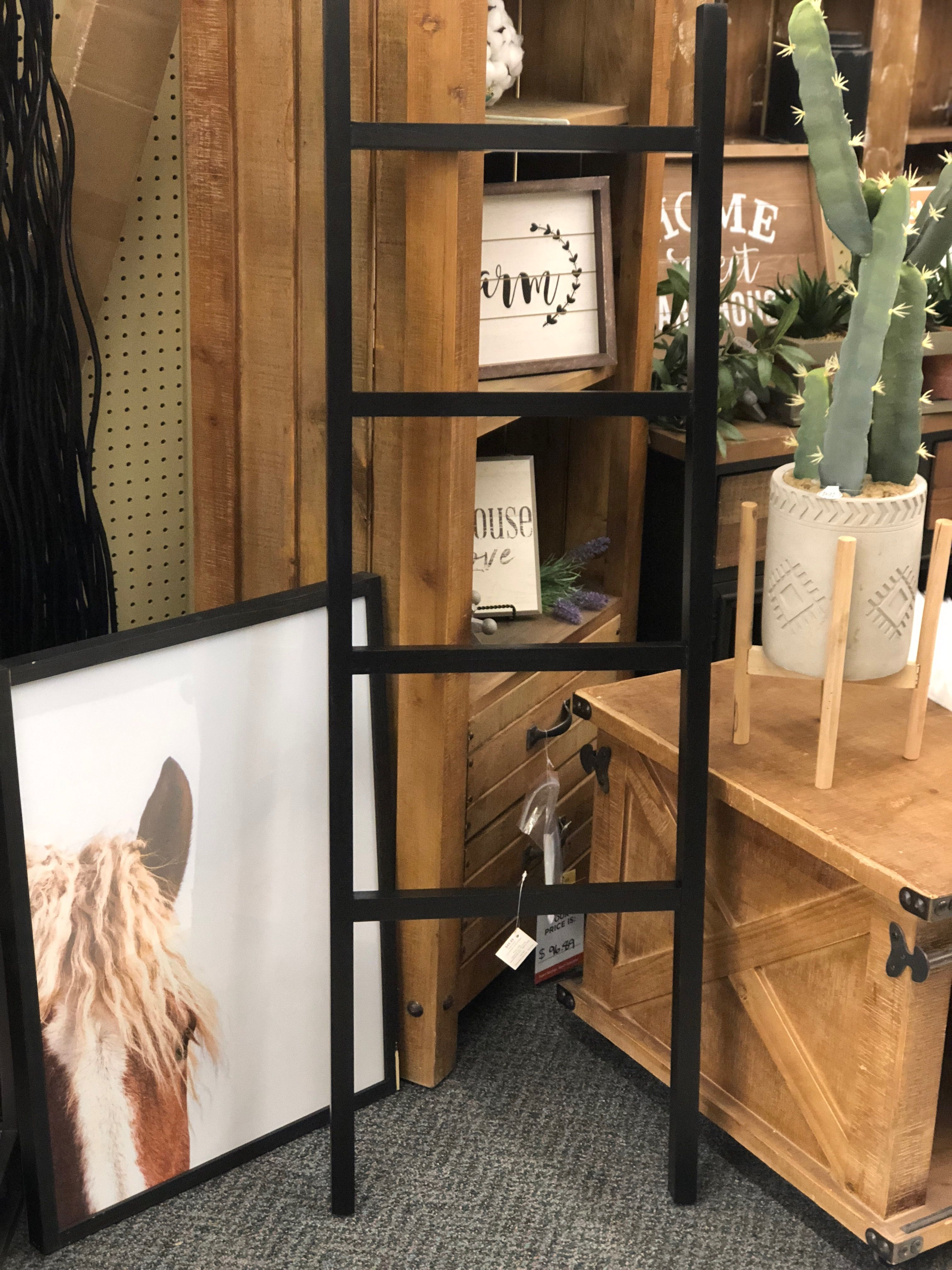 Spotted At Hobbylobby This Modern Ladder It Would Be Beautiful To Hang Blankets On Or Just Lean Against A Wall For A Modern Farmhouse Look