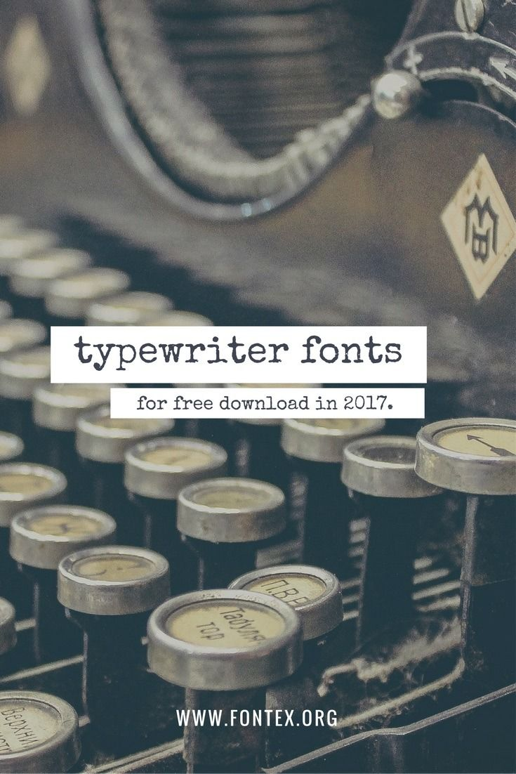 5+ Free Typewriter Fonts: The Complete 2017 List [Download