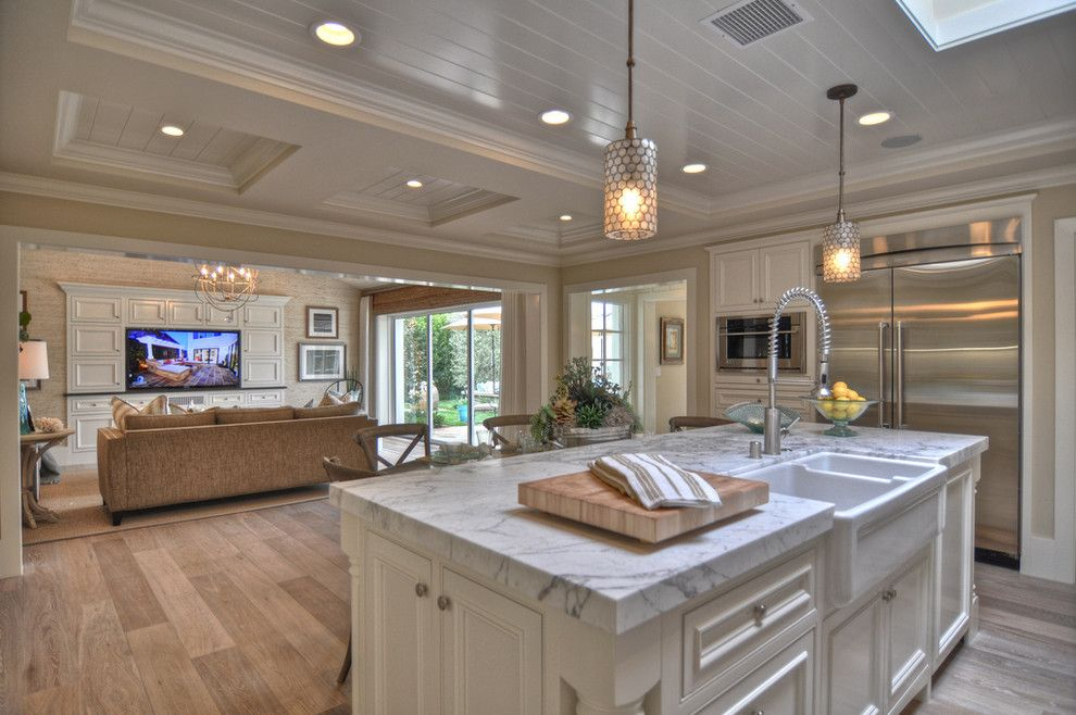 White Kitchen Oak Floor white oak flooring kitchen traditional with backsplash baseboards