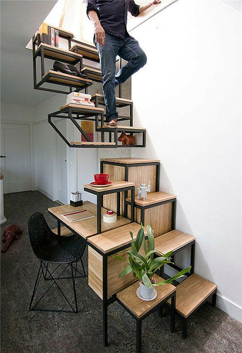 These Stairs Being the Heart of the Room Schody Pinterest Room