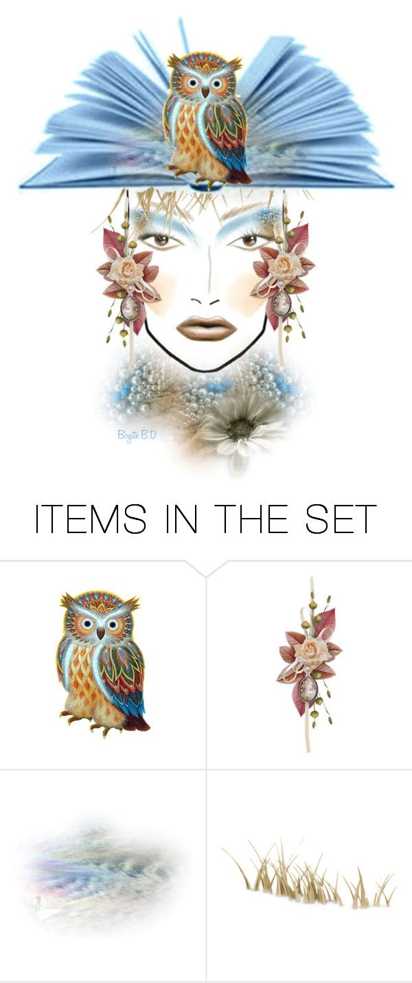 """Oddities ""Odd Face"""" by birgitte-b-d ❤ liked on Polyvore featuring art"