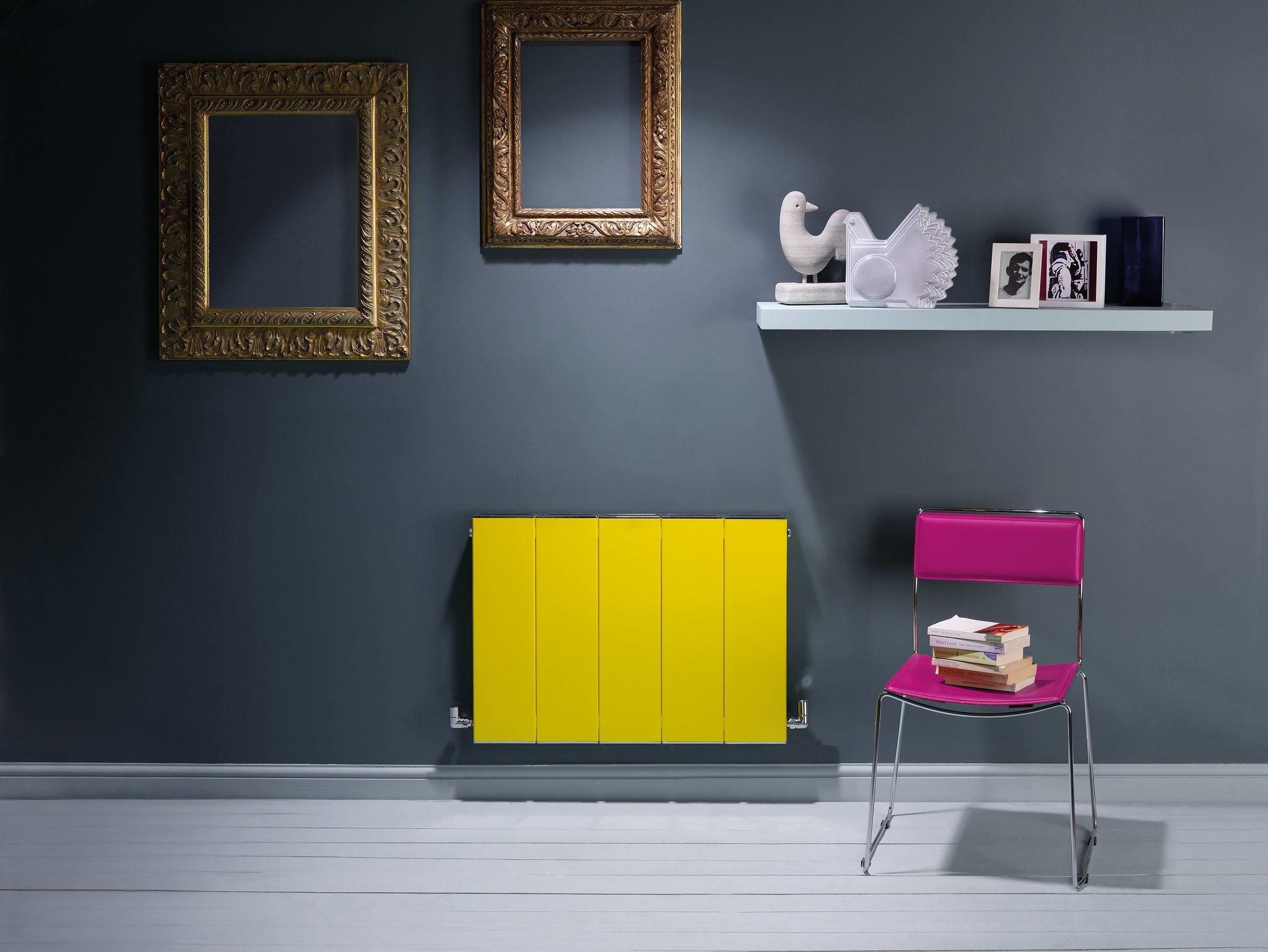 brightly coloured radiator