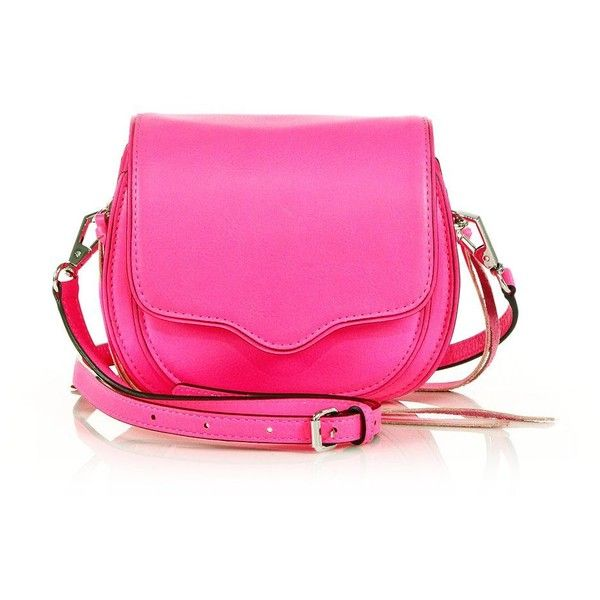 Rebecca Minkoff Sydney Mini Crossbody Bag (2.175 ARS) ❤ liked on Polyvore featuring bags, handbags, shoulder bags, apparel & accessories, bright pink, rebecca minkoff crossbody, mini crossbody, pink shoulder bag, mini crossbody purse and mini shoulder bag