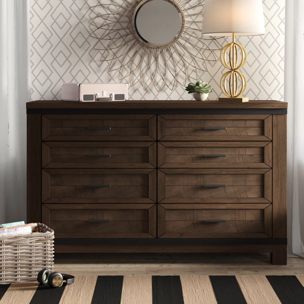Stephan 8 Drawer Double Dresser Dresser With Mirror Double Dresser High End Furniture Stores [ 1000 x 1000 Pixel ]