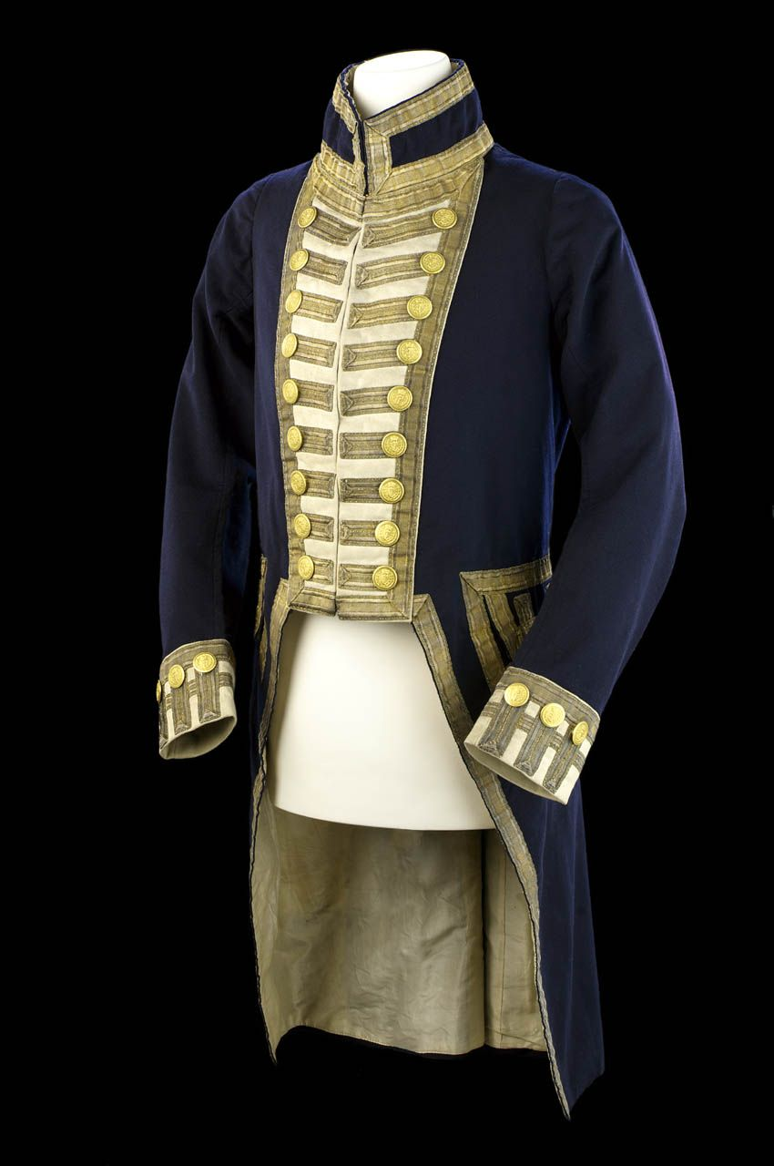 Rear-admiral - Royal Naval uniform pattern 1812 - National Maritime Museum made 1822 : admiral jacket costume  - Germanpascual.Com