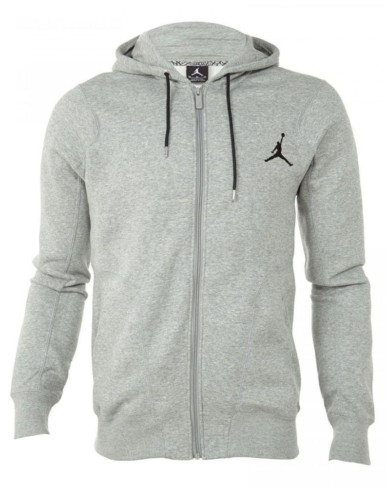 save off b388b 0c8b4 NIKE Air Jordan 237 Fz Hoody Mens Grey Hoodies  Sweatshirts SZ-XL  547664-063 NIKEJORDAN HoodiesSweatshirts