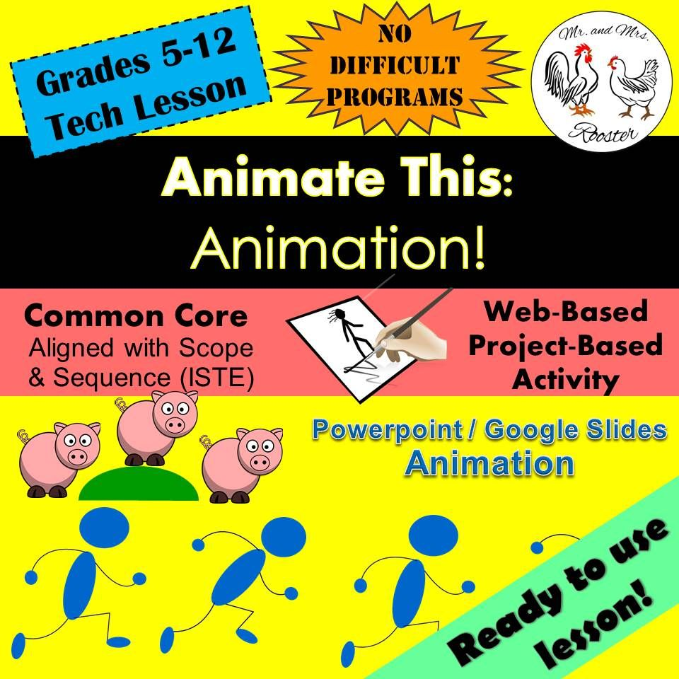 Tech Lesson - Animate This! - Google Slides/PowerPoint {Technology