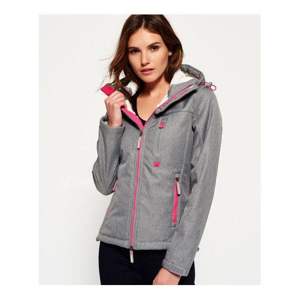 Superdry Hooded Winter Windtrekker Jacket ($100) ❤ liked on