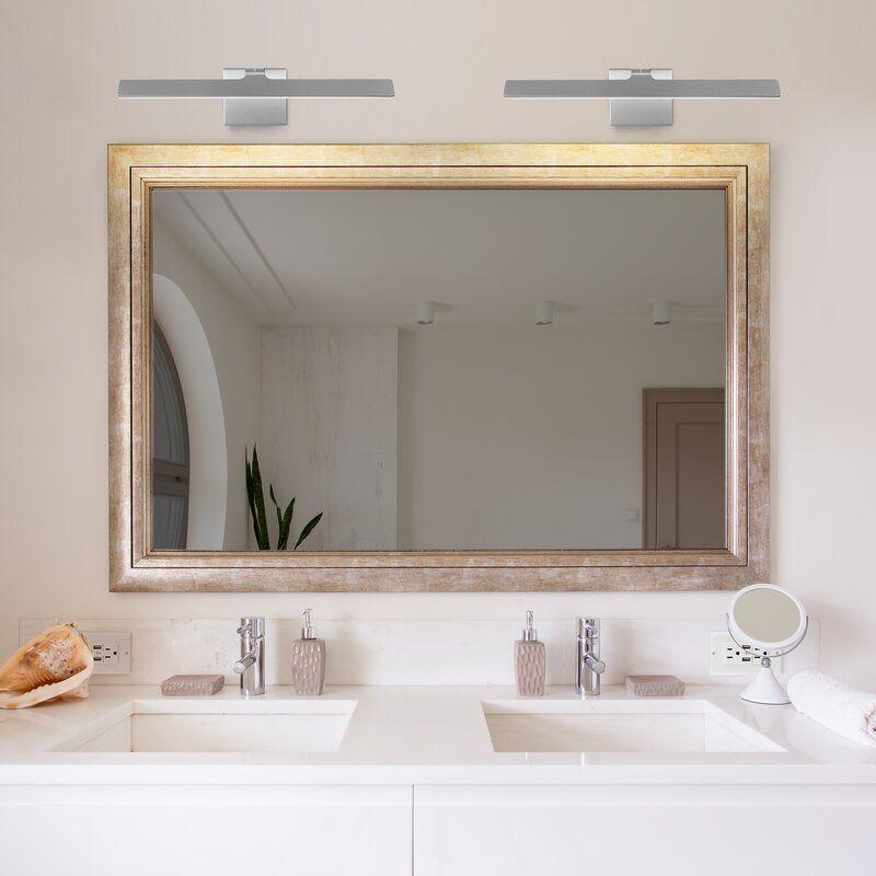 Crompton 1 Light Dimmable Led Silver Bath Bar Bathroom Light Fixtures Modern Bathroom Light Fixtures Bathroom Mirror