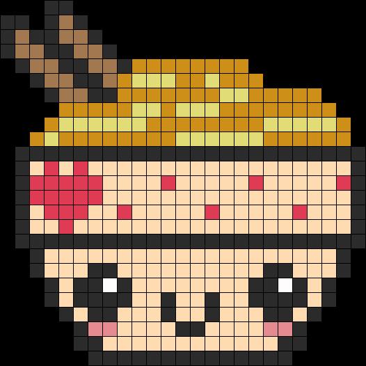Bol De Nouille Hama Beads Pixel Art Nourriture Modèle