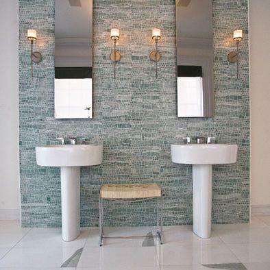 Bathroom Ming Sinous Tile Design, Pictures, Remodel, Decor and Ideas - carrelage salle de bain petit carreaux