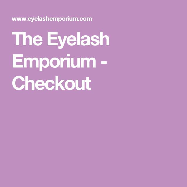 The Eyelash Emporium Checkout Extension De Cils Pinterest