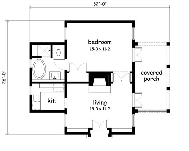 Garden Cottage Southern Living House Plans Cabin Floor Plans Guest House Plans House Plans